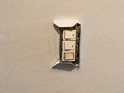 電源スイッチ部分