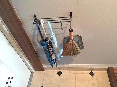 傘を壁掛け収納
