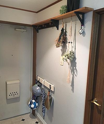 ナゲシレールで玄関の壁掛け収納DIY