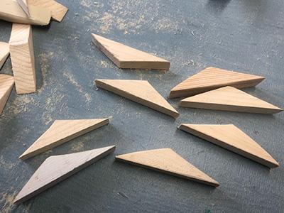 端材でつなぎを作る