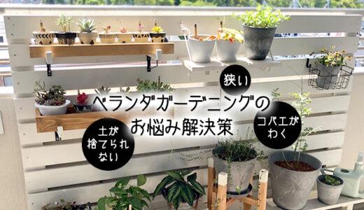 【初心者向け】マンションのベランダガーデニング3大お悩み「狭い、虫、土」問題の解決策