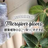 観葉植物のほこり取り掃除にマイクロファイバー手袋がおすすめ